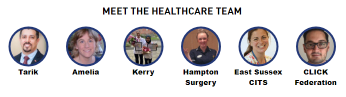 Photos of the healthcare workers taking part in the Primary Care Zone.